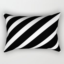 Black'n'White Stripes Rectangular Pillow