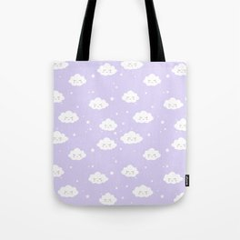 Kawaii cloud pattern Tote Bag