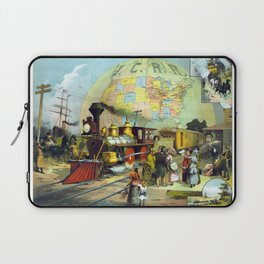 Transcontinental Railroad Laptop Sleeve