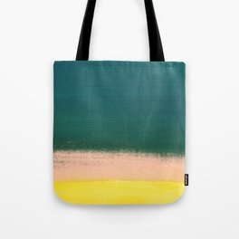 Minimal Abstract Sunset Painting Tote Bag