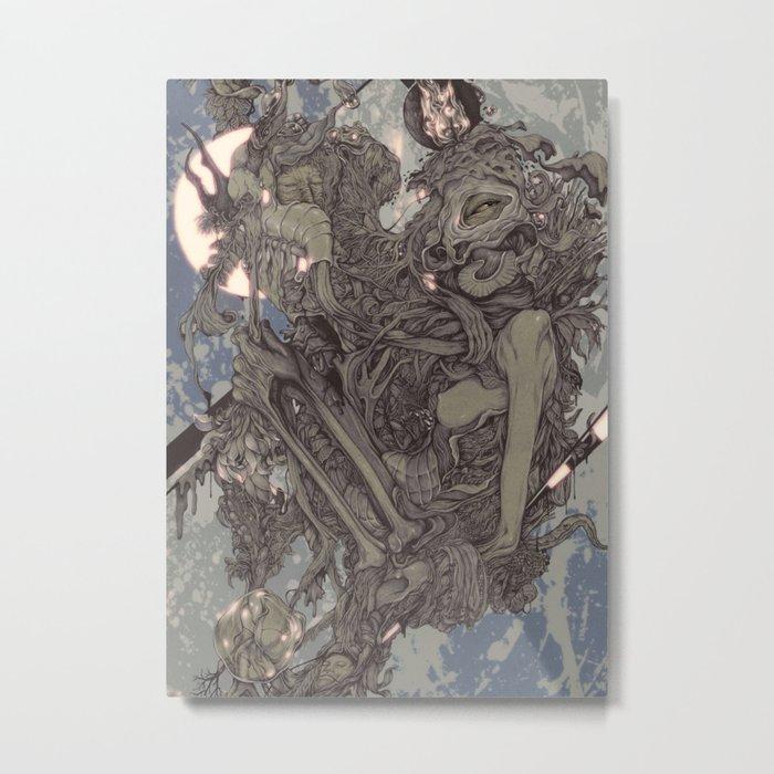 REMEMBER MIND (full moon) Metal Print