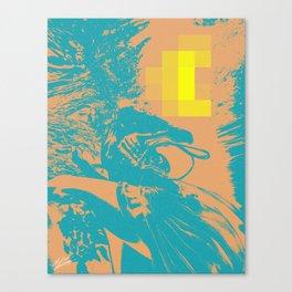 Swim to Me, Underwater Digital Art Teal and Peach Canvas Print