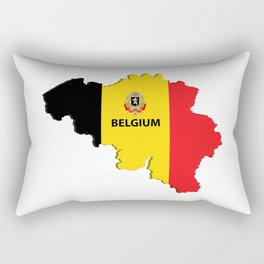 Belgium map Rectangular Pillow