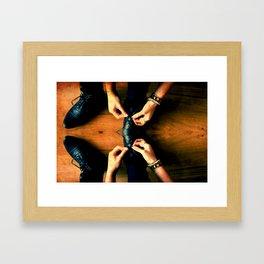 Double Knot. Framed Art Print