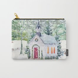 Country Church in Snow Carry-All Pouch