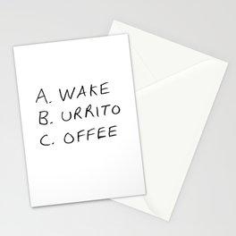 Breakfast Coffee ABC Stationery Cards