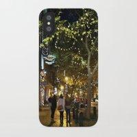 nashville iPhone & iPod Cases featuring Nashville Nightwalks by joralyssadan