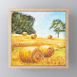 Prairie Landscape - Farm Art Framed Mini Art Print