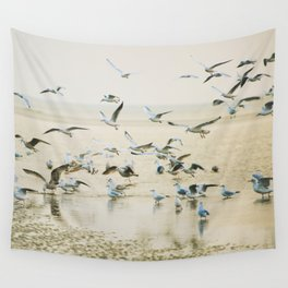 My heart beats in a million gulls Wall Tapestry
