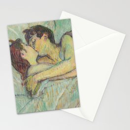 "Henri de Toulouse-Lautrec ""In Bed: The Kiss"" Stationery Cards"