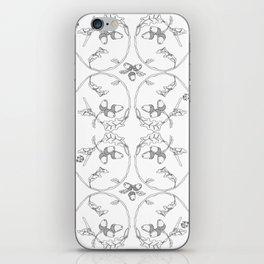 Acorns and ladybugs pattern white iPhone Skin
