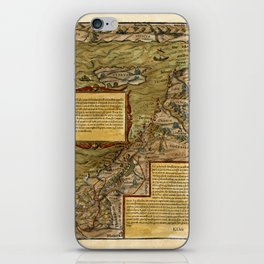 Map Of The Holy Land 1544 iPhone Skin