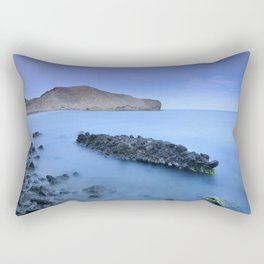 Half Moon beach. Blue hour at sunset Rectangular Pillow