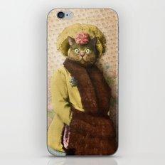 Lady Vanderkat with Roses iPhone Skin