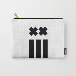Ex and Stripes Carry-All Pouch