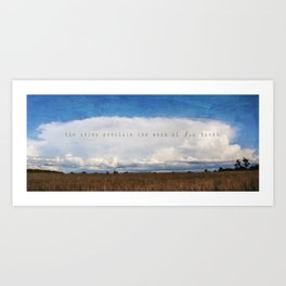 The Work of His Hands Art Print