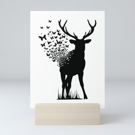 Butterfly Deer Mini Art Print