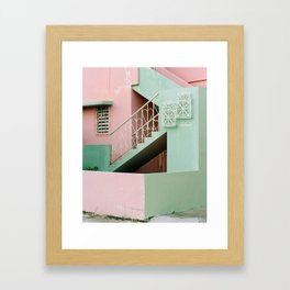 iron hearts and pastel concrete Framed Art Print