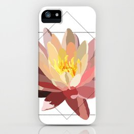 Geo water lily iPhone Case