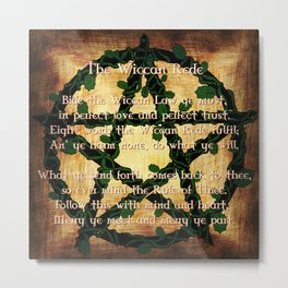 The Wiccan Rede Metal Print
