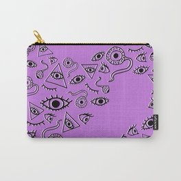"""""""The Eyes Have It"""" in Violet Carry-All Pouch"""