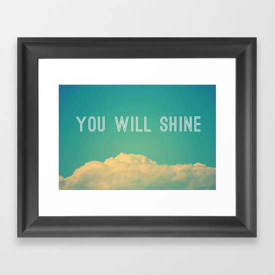Baby, you will shine! Framed Art Print