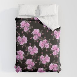 Dark and Roses Comforters