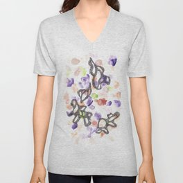 170808 Micron Watercolour 9  Modern Watercolor Art   Abstract Watercolors Unisex V-Neck