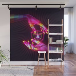 Psychedelic Energy Hands 6 (GIF) Wall Mural