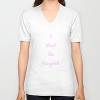 fairytale V-neck T-shirts featuring Fairytale by Crystal