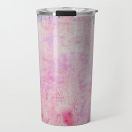 abstract vintage wall texture - pink retro style background Travel Mug