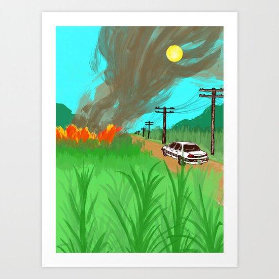 Sugar Cane Fires Art Print