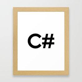 C# Framed Art Print