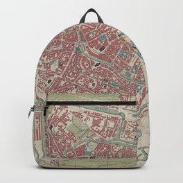Vintage Ghent Belgium Map (1878) Backpack
