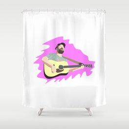 Square Nine Shower Curtain