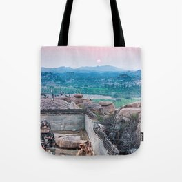 Sunset in the Lost World Tote Bag