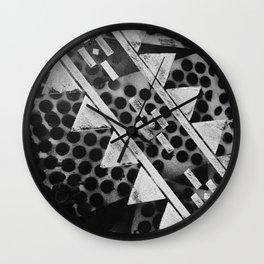 Rough Geometric Shapes Wall Clock