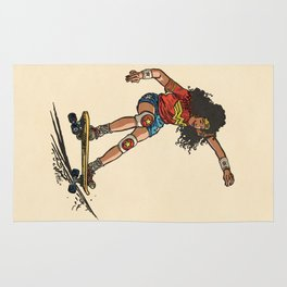 Wonder Skater (In Comic Colors!) Rug