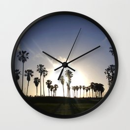 Sunset in Venice Beach Wall Clock
