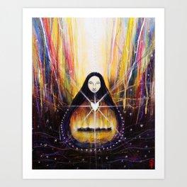 White Heart Fire Art Print