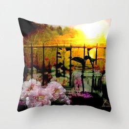 Sunset Balcony Throw Pillow