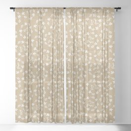 Craft paper Christmas Merry and Bright Sheer Curtain