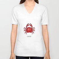 cancer V-neck T-shirts featuring Cancer by Dano77