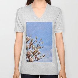 Magnolia In The Sky Unisex V-Neck