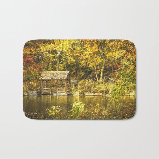 Autumn Lakeside Retreat Bath Mat