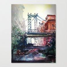 New York - Under the bridge Canvas Print