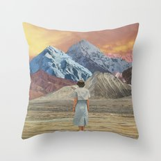 What is it about sunsets? Throw Pillow