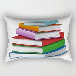 Books Stack Realistic Rectangular Pillow