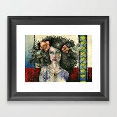 She Had Hummingbirds in Her Hair Framed Art Print