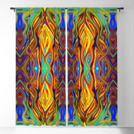 Royal Fiesta Flame by Chris Sparks Blackout Curtain